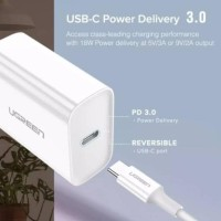 Ugreen Charger 18W Power Delivery + USB C to Lightning Cable MFi