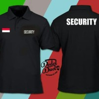 Baju Kerah Kaos Polo Shirt Pria Security Kaos Kerah Security - Hitam,