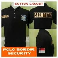 Kaos Polo Satpam - Kaos Polo Security - Kaos Kerah Security - M