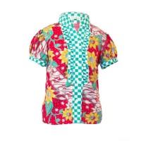 ~Cutevina~Grosiran fashion kemeja anak cewek batik kombinasi kekinian