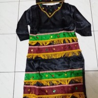 Pakaian baju adat anak irian/papua saten Lk/Pr size L-XL
