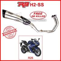 Original R9 New H2 SS Yamaha R25 R 25 MT25 Knalpot Racing Ori Asli PnP