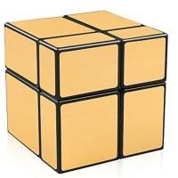 Rubik Mirror 2x2 Qiyi Mirror 2x2 Black Gold