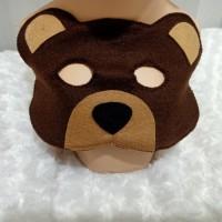 Topeng hewan beruang kostum pesta ulang tahun drama anak