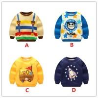 Promo Sweater Kaos Lengan Panjang Bahan Velvet untuk Bayi Laki-Laki