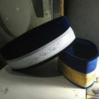 Kopiah peci songkok bludru biru Dongker pilihan warna