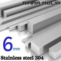 as segi empat / shaft segi 4 diameter 6mm stainless 304 / stenlis
