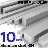 as segi empat / shaft segi 4 diameter 10mm stainless 304 / stenlis