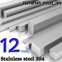 as segi empat / shaft segi 4 diameter 12mm stainless 304 / stenlis