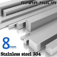 as segi empat / shaft segi 4 diameter 8mm stainless 304 / stenlis