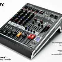 Mixer Ashley 4 Channel Selection-4 Bluetooth Usb Equalizer Original