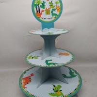 cupcake stand dino / cupcake stand custom dino / cupcake tier dino