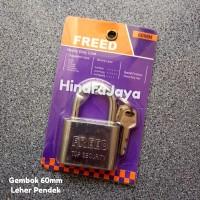 Kunci Gembok 60mm / Gembok Leher Pendek 60mm