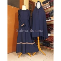 Setelan Gamis Syar'i Wanita - Kombinasi - Semi Umbrella