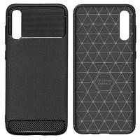 Armor Thin TPU Case Samsung Galaxy A70 - Casing Black Soft Original