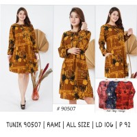 Promo Tunik Wanita Katun Rami /linen Dress motif terbaru