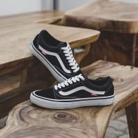 Sepatu Pria & Wanita Vans Old Skool Pro Black White Original BNIB!