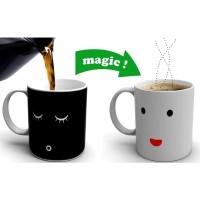 Color Changing Magic Mug Cangkir Sensitif Suhu Motif Smile Face - Y-03
