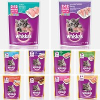 Whiskas sachet all varian 85gr junior/dewasa/makanan basah/adult foods