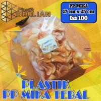 Plastik PP Mika 17 x 25 Tebal Bungkus Snack Keripik Isi 100 lembar