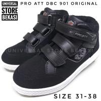 Sepatu Sekolah Anak Laki-laki Pro Att DBC 901 V3 PAUD TK SD SMP Hitam - 36, Hitam