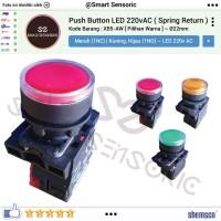 Push Button XB5-AW 22mm Tombol Switch Saklar LED 220 Shemsco Schneider