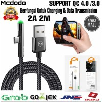 CABLE MCDODO USB TYPE C GAMING SERIES GREEN LED CA-6391 2A 2M