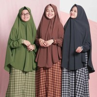 Hijab Alila - Gamis Zippy Square - Motif Kotak Kotak