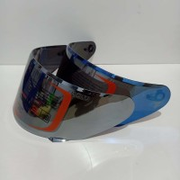 flat visor nhk rx9 iridium silver kca helm nhk rx9