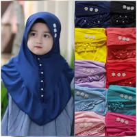 Jilbab Hijab Anak 4-8th Renda Mutiara - Kerudung Anak perempuan