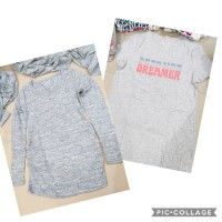 BIG SIZE - GAP Baju Kaos Katun Wanita Besar Jumbo Printed T Shirt