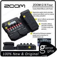 Zoom G1x Four Multi Efek Gitar dengan Expression Pedal G1xfour G1 x