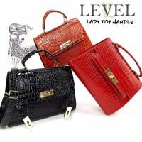 TAS LEVEL CROC KALY fashion wanita batam import grosir selempang brand