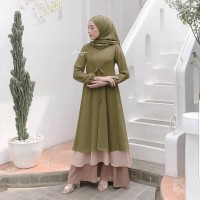 Baju Gamis Wanita Muslim Terbaru Dress Busui Dewasa Pesta Brokat