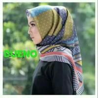Bueno Hijab Segiempat Voal motif Deenay kw