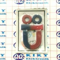 Magnet set 4in1 untuk prakarya sekolah edukasi bentuk batang ring n u