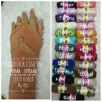 Handshock cincin renda senada / Manset tangan cincin