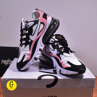 Nike Air Max 270 React BNIB Black White Pink Grey/Sepatu Wanita/Sepatu