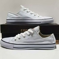 all star converse pendek putih