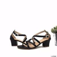 Sepatu sandal sendal wanita hak tahu big high heels tali w10