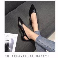 Sepatu wanita sandal sendal hak tahu 3cm big heels dw17