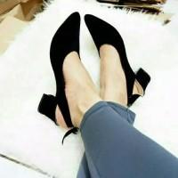 Sepatu sandal sendal wanita hak tahu big high heels sued tali dw09