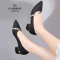 Sepatu sandal sendal wanita kerja hak tahu big high heels tm14