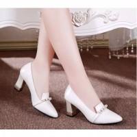 Sepatu kerja selop hak tahu big high heels tm13