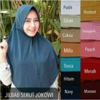 UNA Jilbab serut polos, serut jokowi polos, hijab serut instan tali
