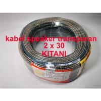 Global Kabel Speaker Transparan 2x30 Kitani 50 Meter tembaga murni