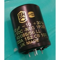 ELCO 1500uF 100V 105C BHC ALP20A CAPACITOR UK MADE SNAP IN 35x45MM
