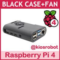 Sale Case Box Fan ABS Casing Black Lubang GPIO Raspberry Pi 4