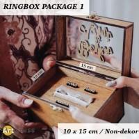 RING BOX PACKAGE 1 - KOTAK CINCIN KAYU RUSTIC