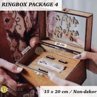 RING BOX PACKAGE 4 - KOTAK CINCIN KAYU RUSTIC